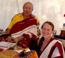 Rinpoche with retreat host Margherita