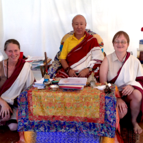 Margherita and Yulia with Rinpoche