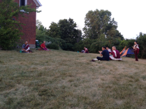 Practice outside