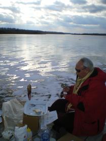 Naga Puja at Lime lake in winter