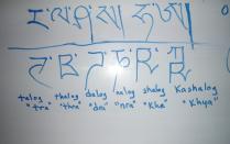 yu Tibetan Class Oct 26 2011 reversed letters